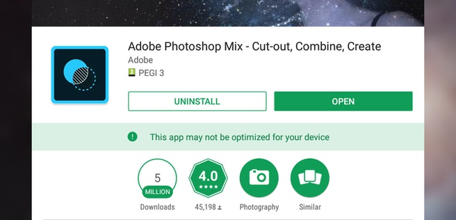 ChromeOS app not optimized