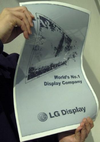 LG flexibel e-paper tabloid formaat