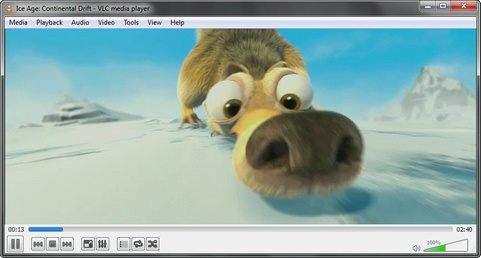 VLC Media Player 2.0 screenshot (481 pix)