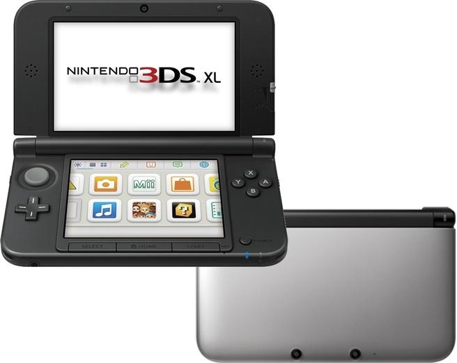 Nintendo 3DS XL Zilver, Zwart