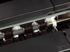 Afsteuning papiergeleiding detail