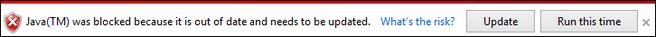 Java geblokkeerd IE