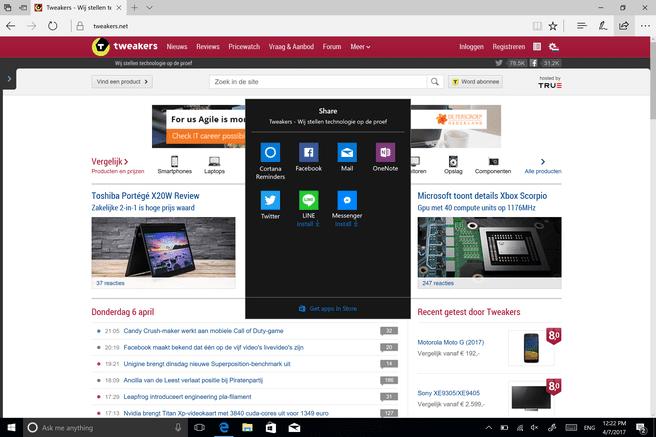 Windows 10 Creators Update Share