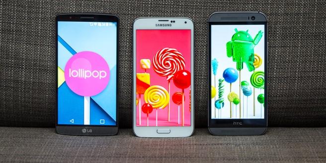 Lollipop op de M8, S5 en G3