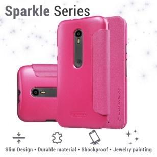 Nillkin Leather Case Motorola Moto G (3rd gen) - Sparkle Series - Red