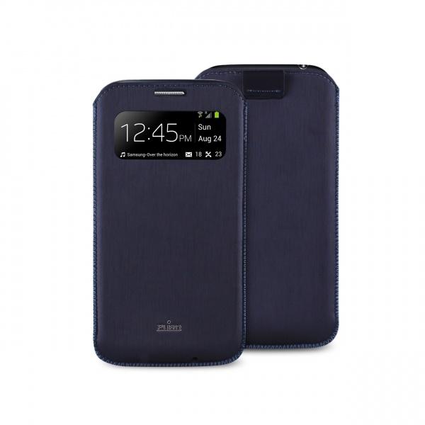 Puro Samsung Galaxy S4 Mini Silk Ecoleather Pouch Blauw