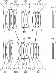 Konica Minolta lens ontwerp 43mm f/1,4 patent