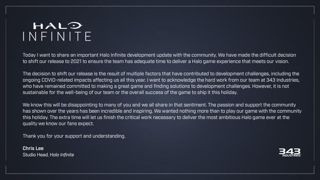 Uitstel van Halo Infinite