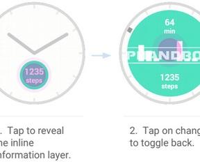 Android Wear - interactieve watchfaces
