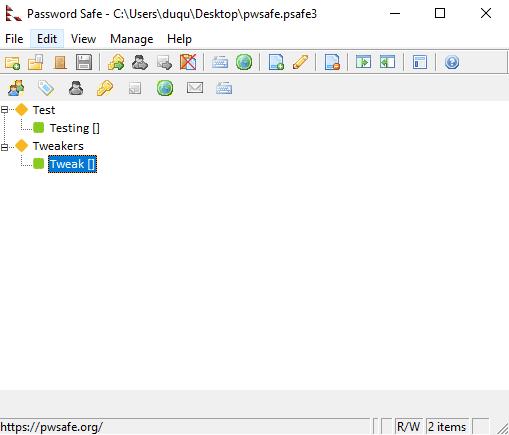 password safe interface 2