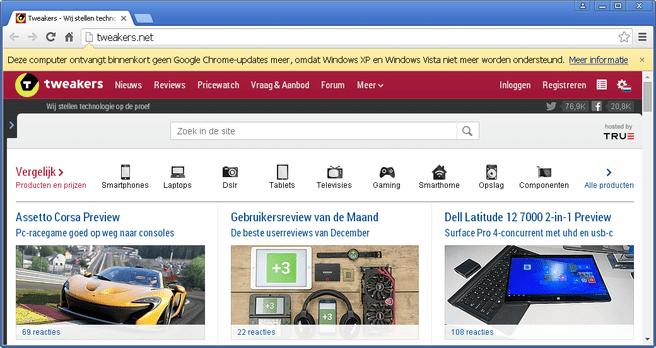 Google Chrome XP