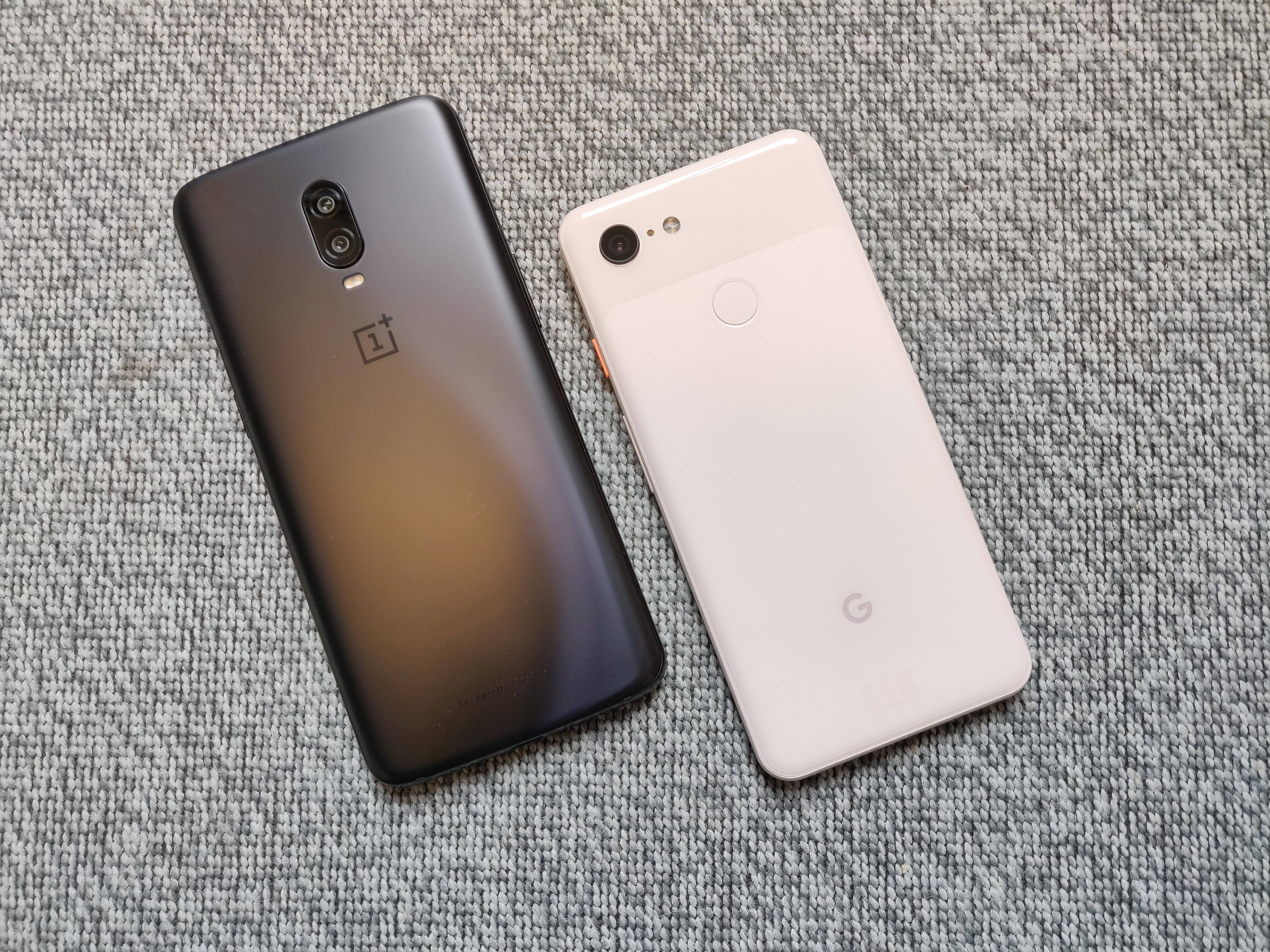 Google Pixel 3 vs OnePlus 6T