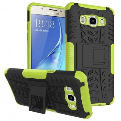 qMust Samsung Galaxy J5 (2016) Rugged Hybrid Case - Dual Protection - Green