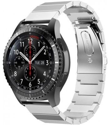 qMust Metalen armband Chain voor Samsung Gear S3 Classic / S3 Frontier - Silver