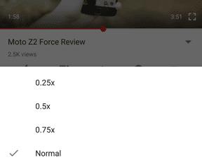 Snelheidscontrole YouTube voor Android