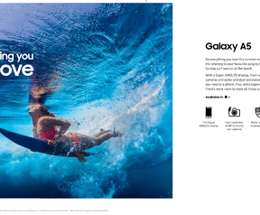 Samsung-ad voor waterdichtheid in Australië