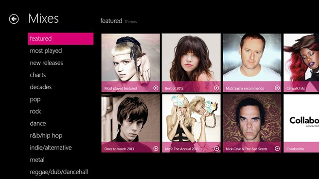 Nokia Music+ op Windows 8