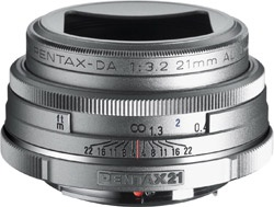 Pentax 21mm limited silver