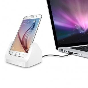 qMust Docking Station voor Samsung Galaxy S6 / S6 edge - wit