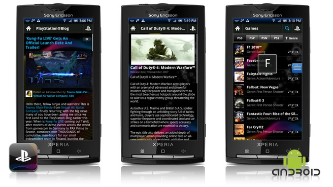 Playstation-app op Android