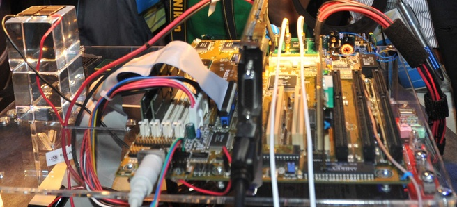 IDF 2011 Intel cpu op zonnecel