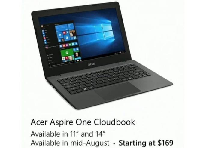 Acer Aspire One Cloudbook