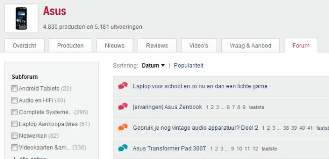 Forum tab