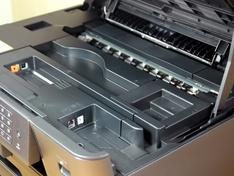Papiergeleiding close up