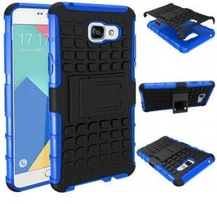qMust Samsung Galaxy A5 (2016) Rugged Hybrid Case - Dual Protection - Blue