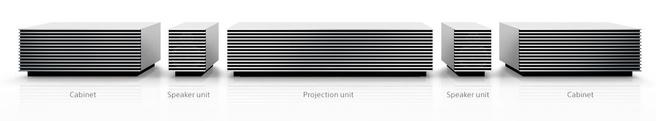 4k ultra short throw projector van Sony