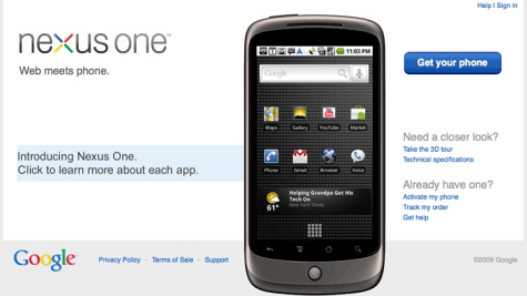 Nexus One Screenie