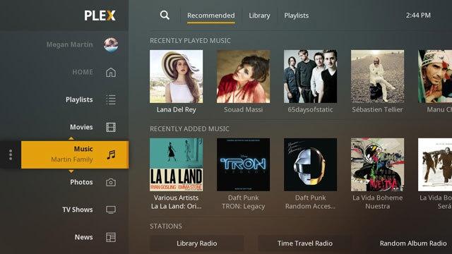 Plex app voor tv's met gedeelde bibliotheek
