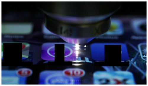 Femtosecond laser optical waveguide Gorilla Glass