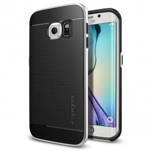 Spigen Neo Hybrid Samsung Galaxy S6 edge Case - SGP11420 - Satin Silver