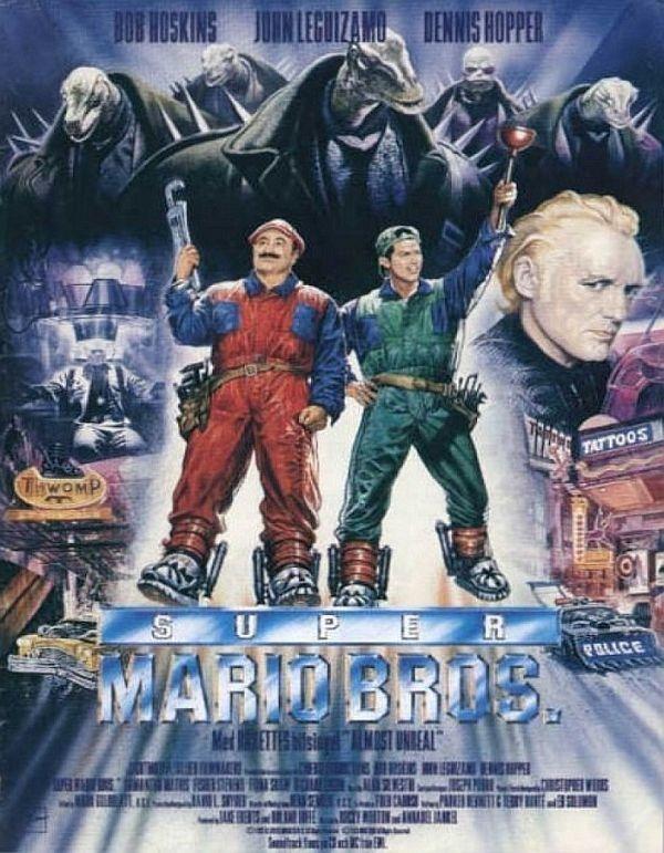 Filmposter van Super Mario Bros. uit 1993