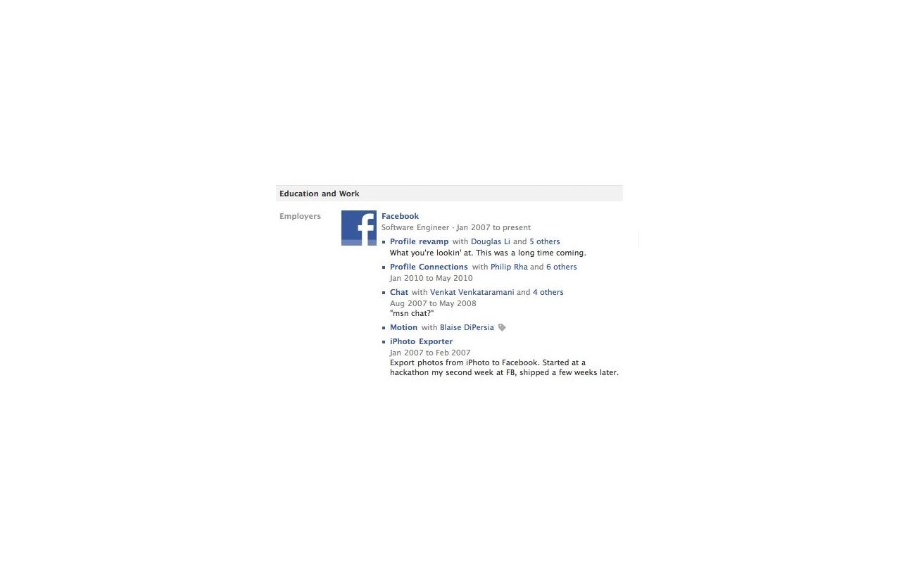 Facebook projecten bij werkgever