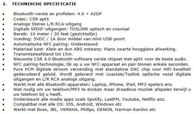 Specificaties 2