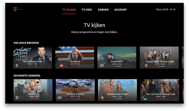 T-Mobile TV Anywhere voor Apple TV