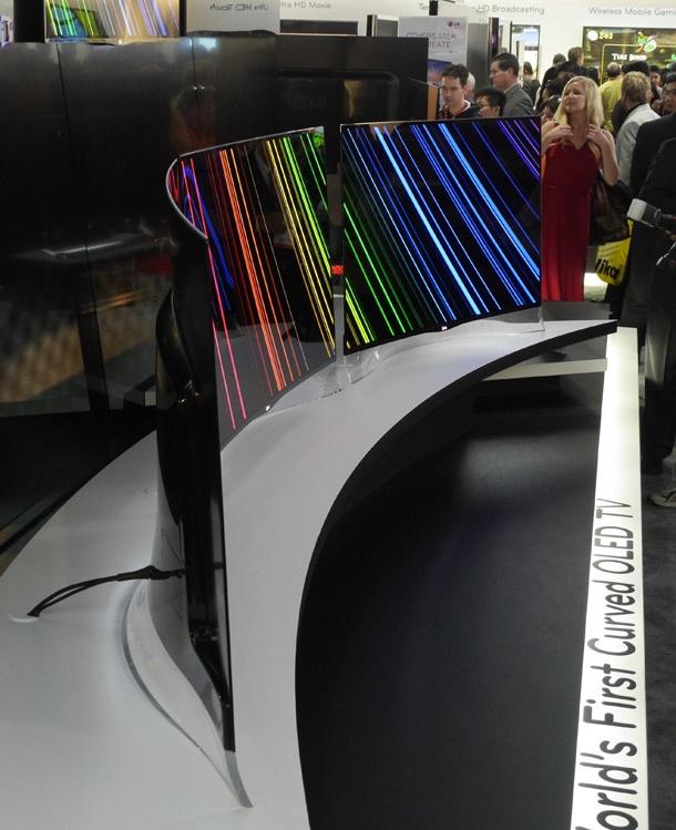 LG gebogen oled-tv