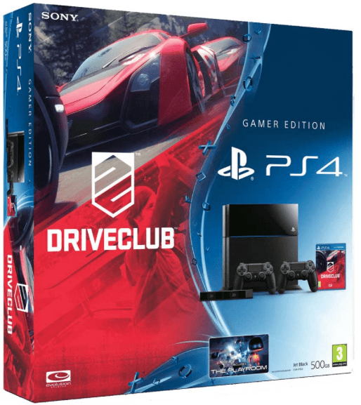 Sony PlayStation 4 + Driveclub + extra controller + PS4 Eye Camera Zwart