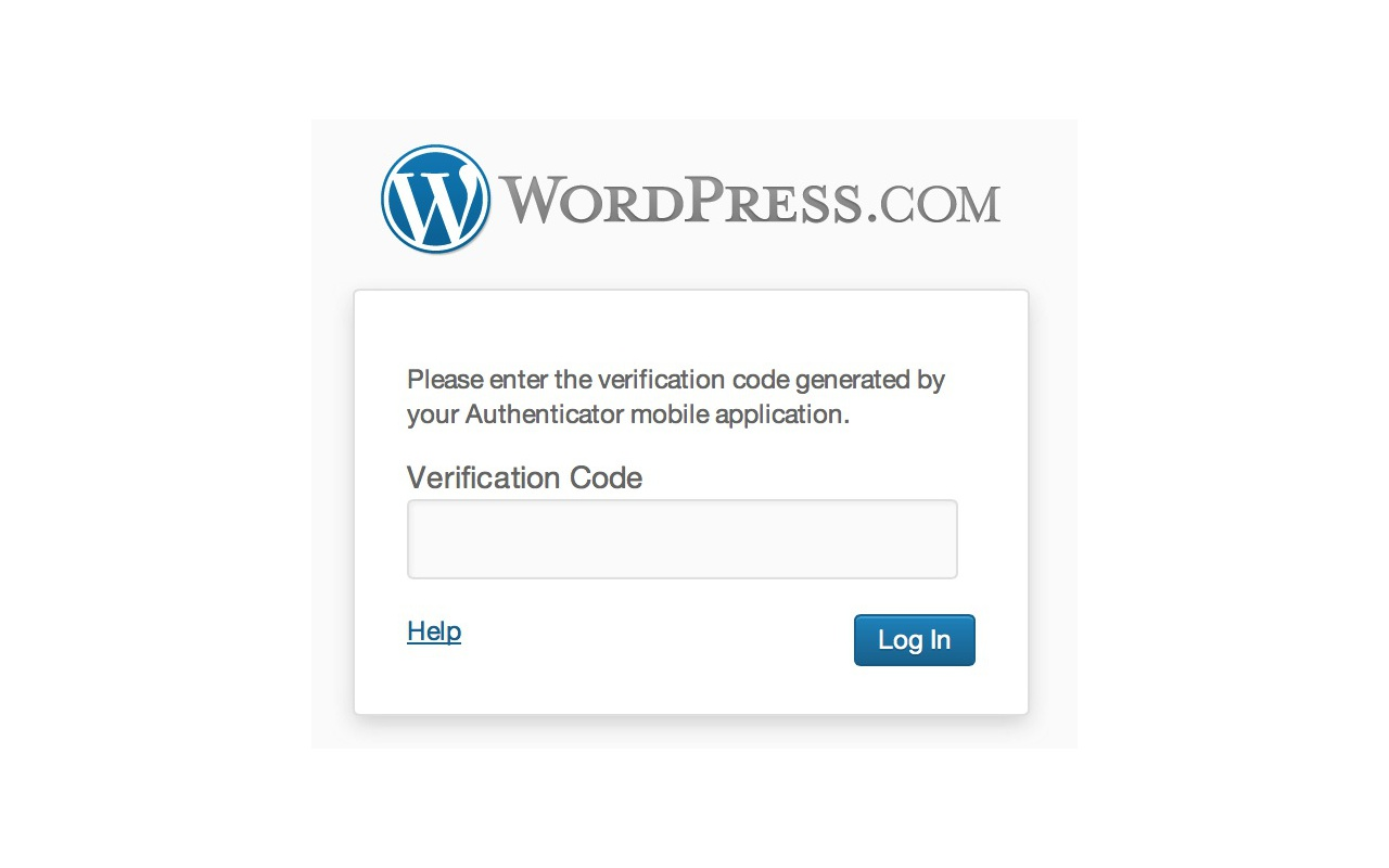 Wordpress two-factor authenticatie