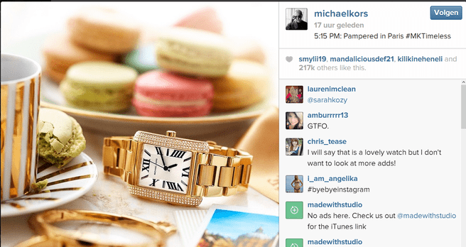 Eerste advertentie op Instagram