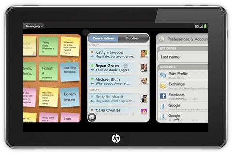 Mockup: HP Slate met WebOS