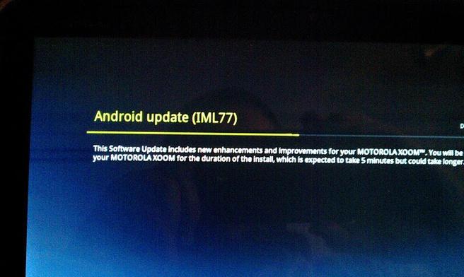 Android ICS-update Motorola Xoom