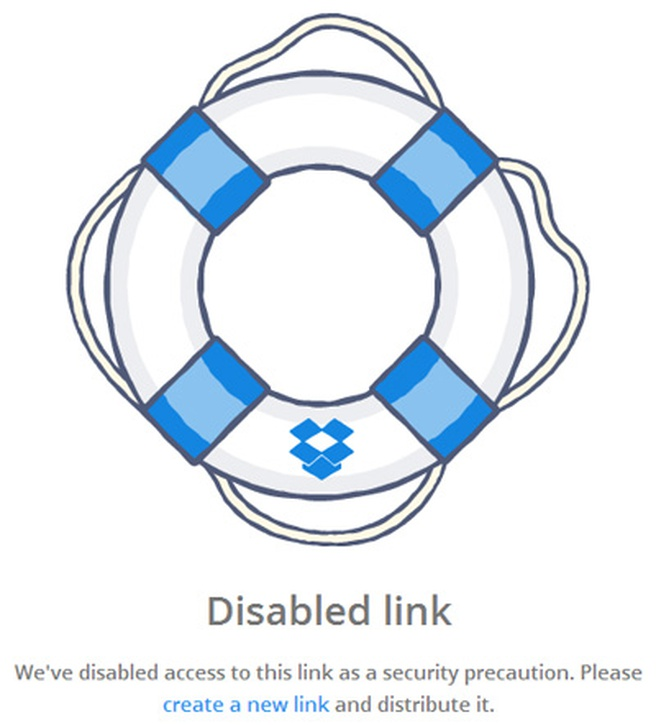 Dropbox shared links stuk