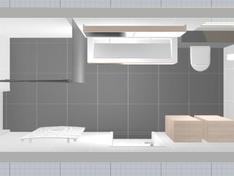 badkamer 3D bovenaanzicht