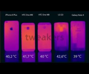 HTC One M9 warmtebeeld