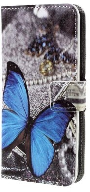 qMust Google Pixel Wallet Case - hoesje met stand - Blue Butterfly