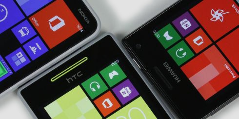 Drie Windows Phones