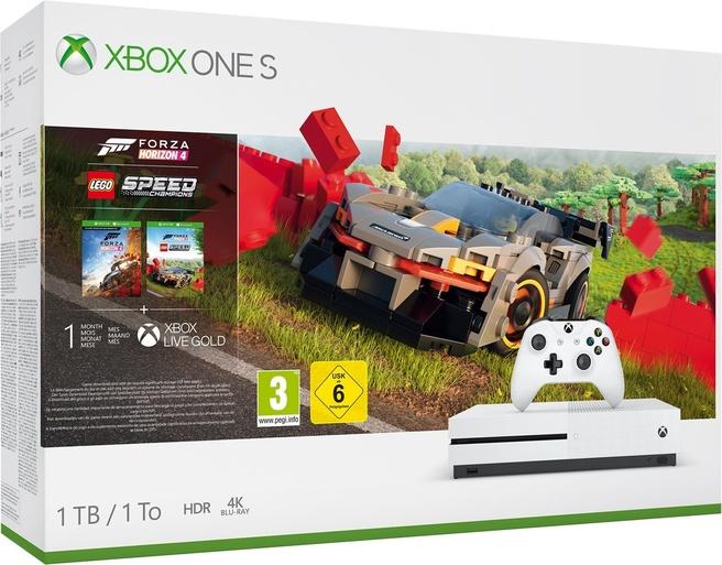 Microsoft Xbox One S 1TB + Forza Horizon 4 + Lego DLC Wit